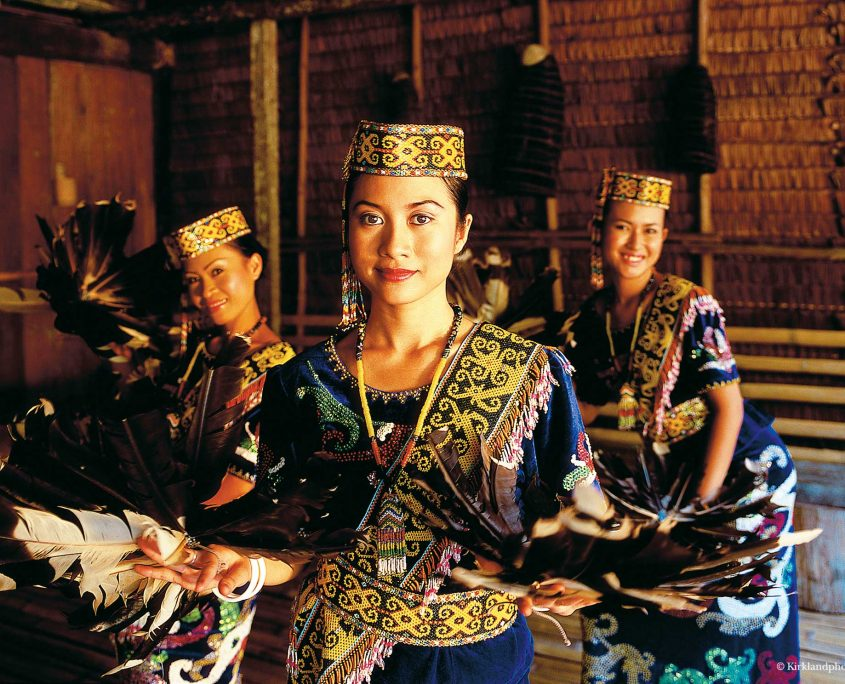Indigenous people of Sarawak. Credit: borneoadventure.com